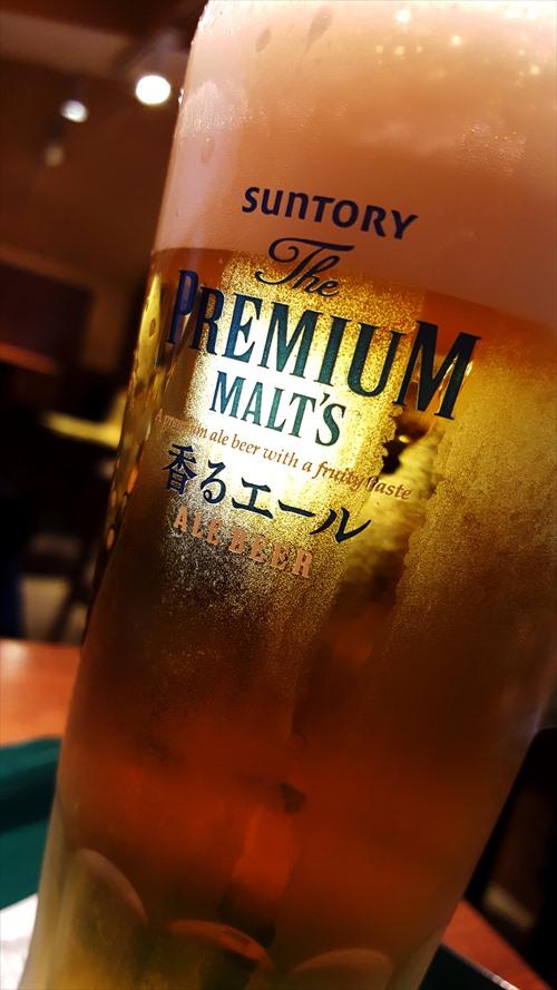 キーンと冷えたビール