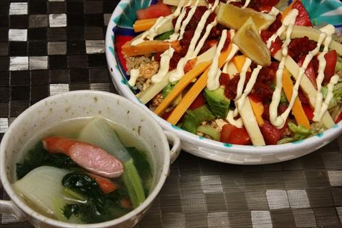 キヌアとお豆腐のタコライス