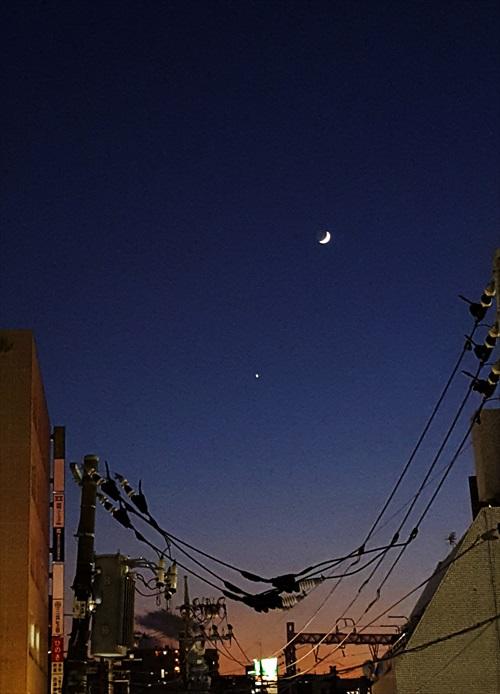 お月様(地球照)