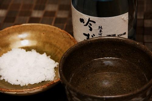 塩で日本酒