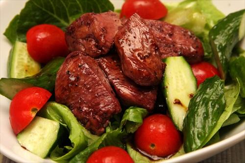鶏胸肉のサラダ山葵ドレッシング