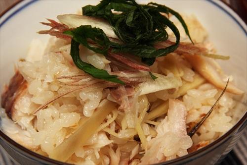 鰺の干物の炊き込みご飯