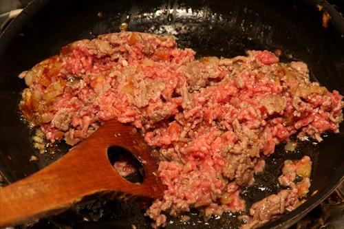 挽肉のオムレツ