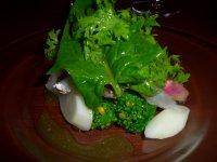 cole amuse - bloiled Kamasu with fresh vesis.