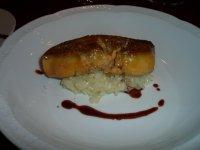 warm amuse - Sauteed Foie Gras and Golgonzora Riso