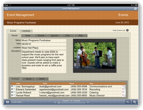 FileMaker Go for iPad 画像1