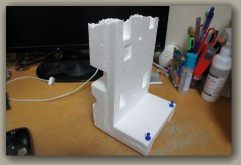 iPadmini手作りスタンド_側面