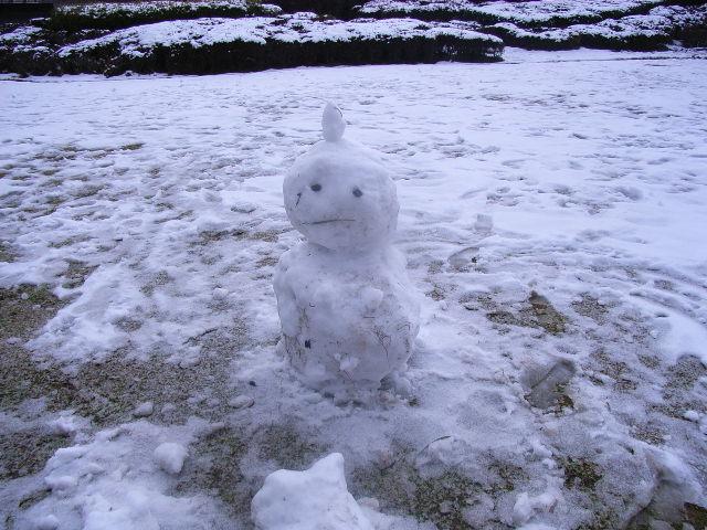 私は雪だるま?