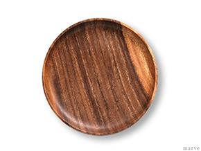 木の器 アカシア ラウンドトレイ M 20cm