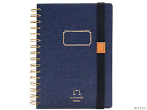 デニムカバーA5ノート TOOLS DENIM NOTEBOOKS A5 NAVY