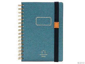 デニムカバーA5ノート TOOLS DENIM NOTEBOOKS A5 BLUE