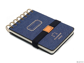 デニムカバーメモ TOOLS DENIM MEMO PAD B7 NAVY