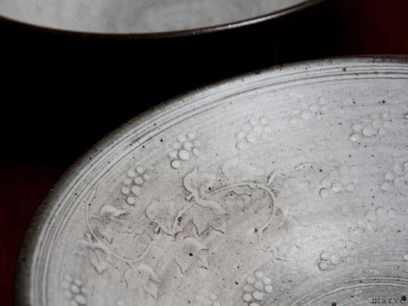 村上雄一 ぶどう浅鉢六寸皿