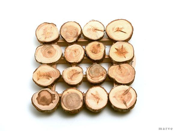 Skandinavisk Hemslojd AB 木製ポットマット 「丸枝」