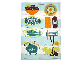 アルメダールス キッチンタオル パーティーテーブル ブルー