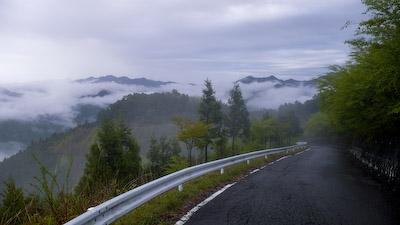 霧の玉置山
