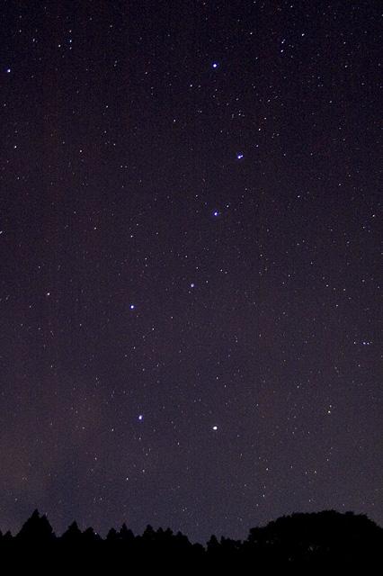 満天の星と北斗七星