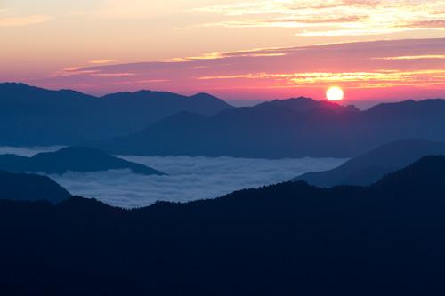 玉置山夜明け2