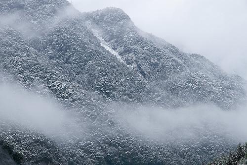 十津川雪景色