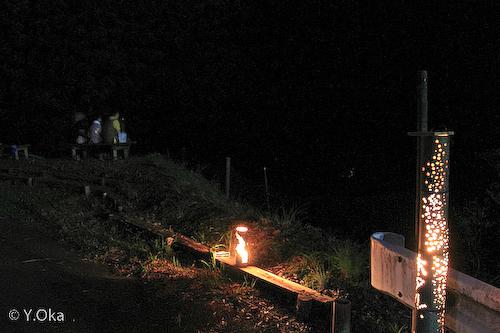 竹灯篭とホタル鑑賞