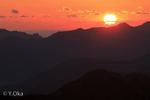 玉置山の夜明け
