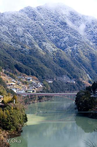 猿飼吊り橋からの景色