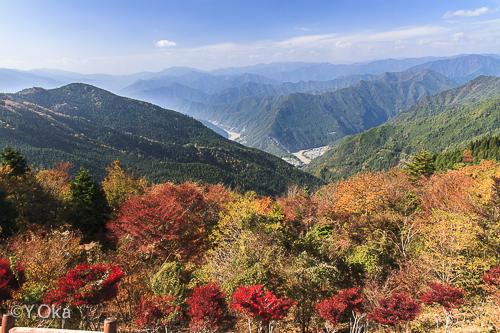 玉置山展望台の紅葉