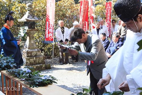 玉置神社初午祭田花会長