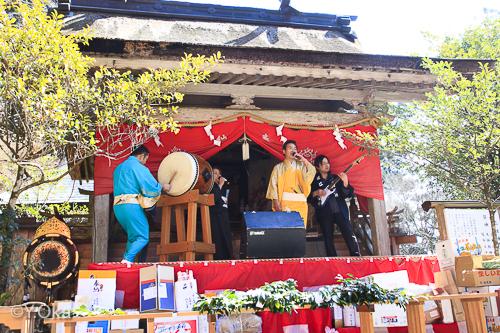 玉置神社初午祭近江富士若さんと近江社中奉納