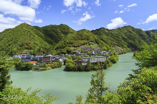 新緑の十津川温泉