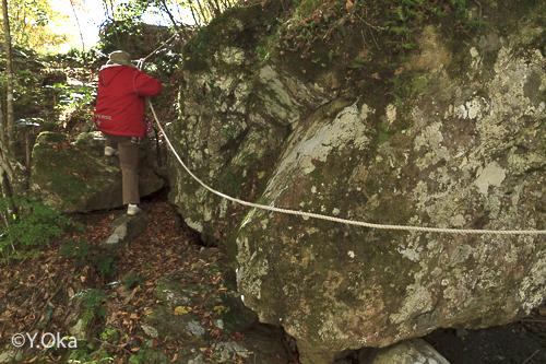 瀬野の滝までの道