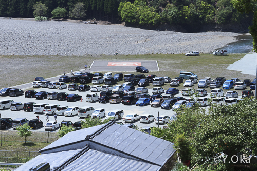 河原駐車場上野地