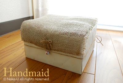 空き箱で作ったティッシュケース