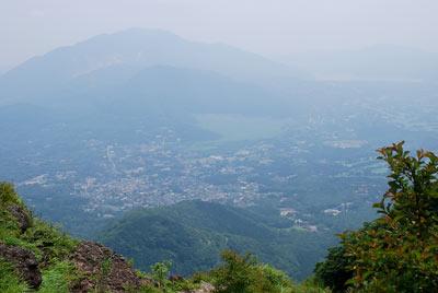 金時山頂からの眺め