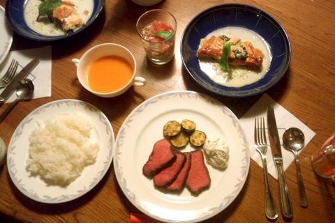 姉作の試食ディナー1