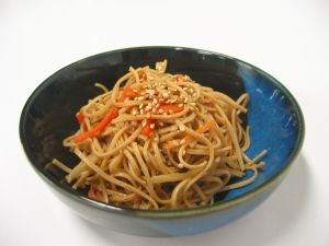 大豆麺のきんぴらレシピ