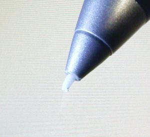 ティッシュ芯の筆先