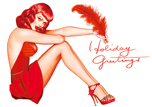 christmas pinup girl