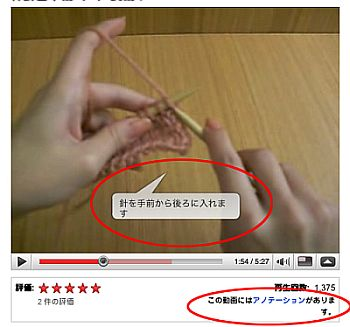 knit動画 アノテーション