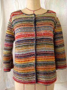 アフガン編み ジャケット
