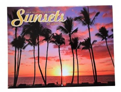 2018年度ハワイアンカレンダーサンセット