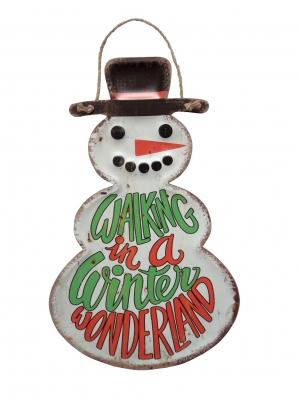 DITICHSNダイカットサイン クリスマス<スノーマン>