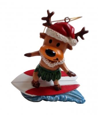 <ハワイアンクリスマスオーナメント>サーフィントナカイ