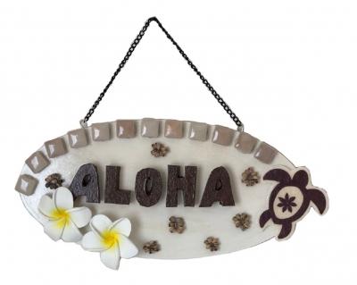 【手づくり/ハンドメイド】ハワイアンプレート<ALOHA>