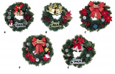 クリスマスリース<手づくり>30cm