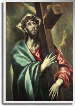 十字架を抱くキリスト