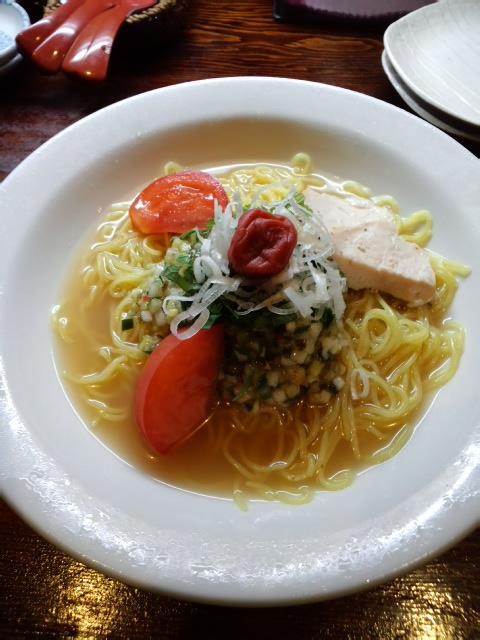 さっぱり塩味!夏野菜の冷麺