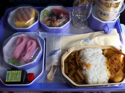 ランカエアの機内食(1)