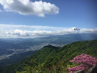 振り返れば富士山