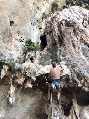 プラナンビーチの岩場